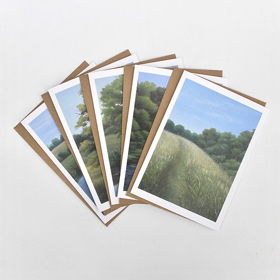 (Portrait) The 'HWLC' Greeting Cards x5