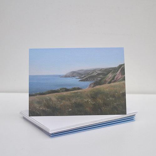 'English Coastline' Greeting Cards x5