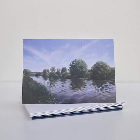 'Stitched Works' Greeting Cards x5