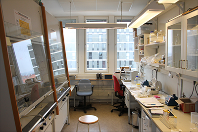 One of the laboratory bench