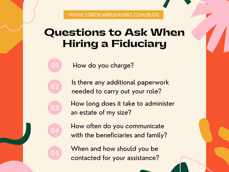 Questions to Ask When Hiring a Fiduciary