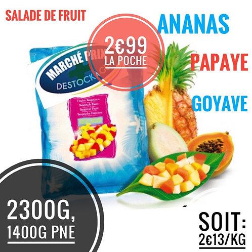 Salade de fruits 1400g engagement 1€ par poche