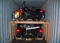 Shipping container loaded for shipment to America