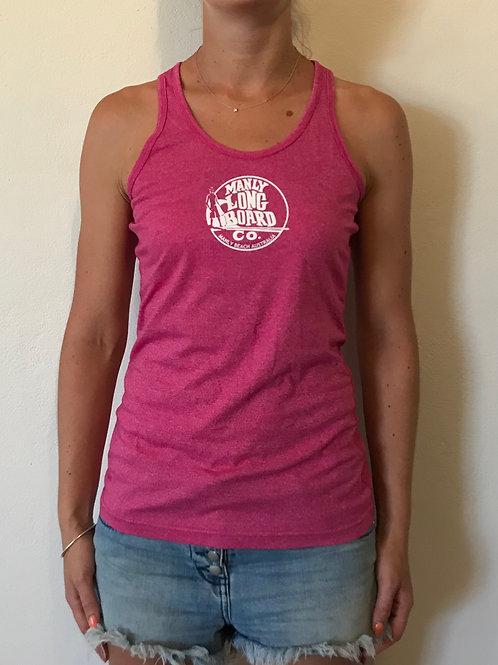 Women's Heather T-Back Singlet