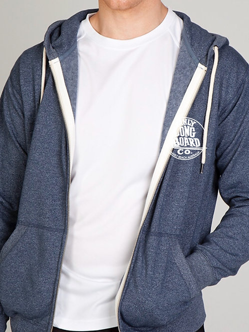 Mens Zip Heather Hoodie
