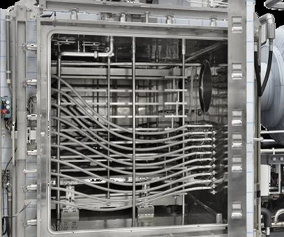 Side Maintenance Door or Back Maintenance Door in a Lyophilizer