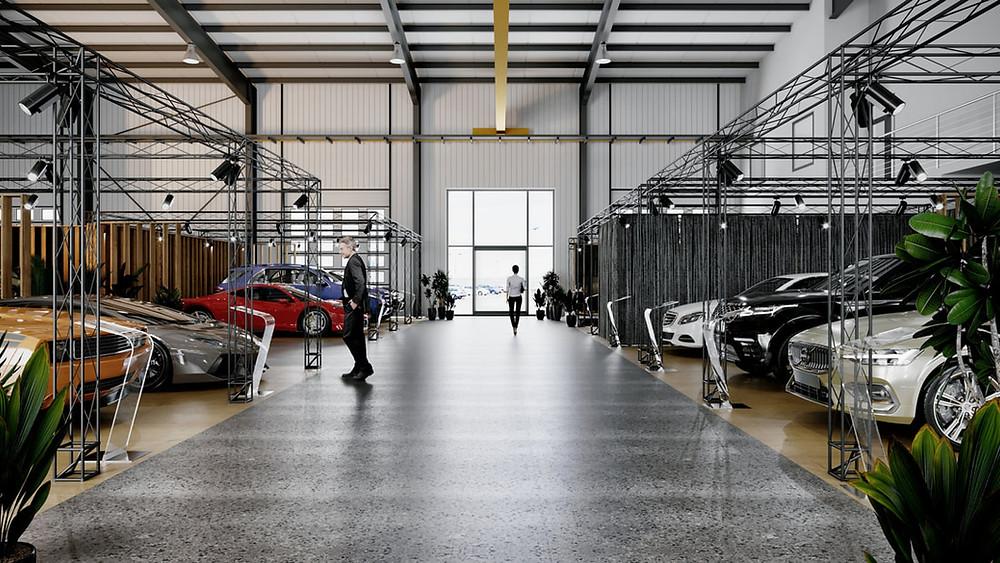 Salon sprzdaży aut luksusowych