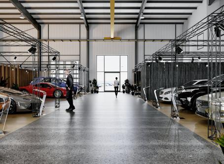 Rekordowy salon sprzedaży zbudowany z kratownic X-20.