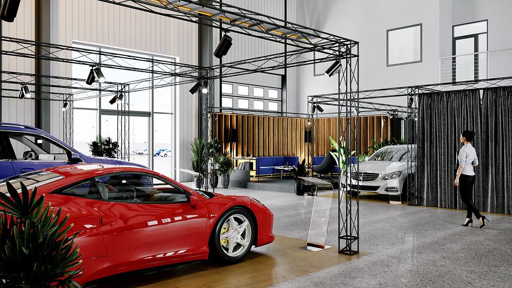 Stanowiska sprzedaży aut luksusowych
