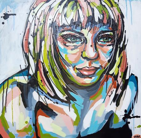 Acryl på lærred Ready to hang 80x80 cm Pris 5400,- Værket kan ses og købes i Atelier SMAAK, Gilleleje