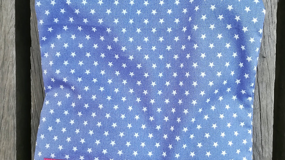 Hørfrøpude - Blå med stjerner