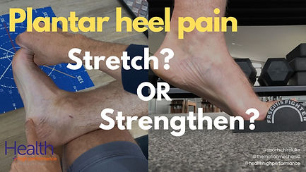 Plantar heel pain_ to stretch or strengt
