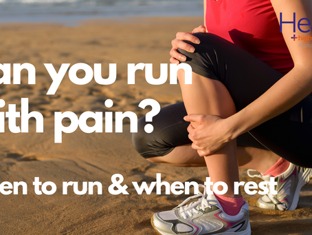 Running with pain: When to run & when to rest