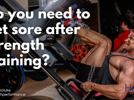 Do you need to get sore after strength training?