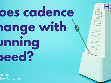 Does cadence change with running speed?