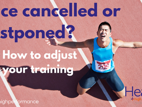 Race cancelled or postponed? 5 ways to adjust your training