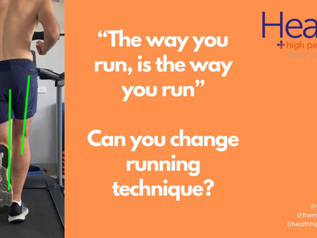 Can you change running technique?