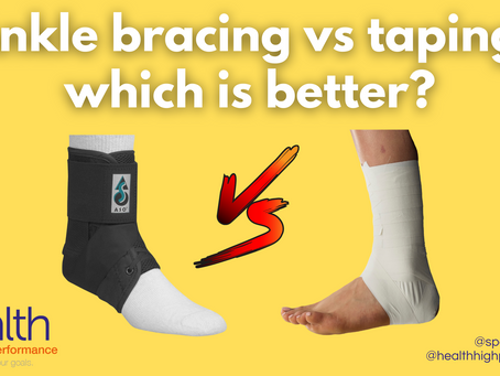 Ankle bracing vs taping: which is better?