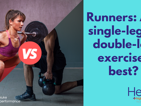Runners: are single-leg or double-leg exercises best?