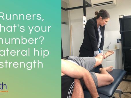 Runners, what's your number? Lateral hip strength