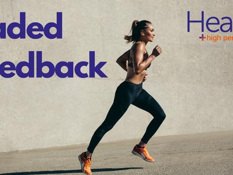 Faded feedback for running gait retraining