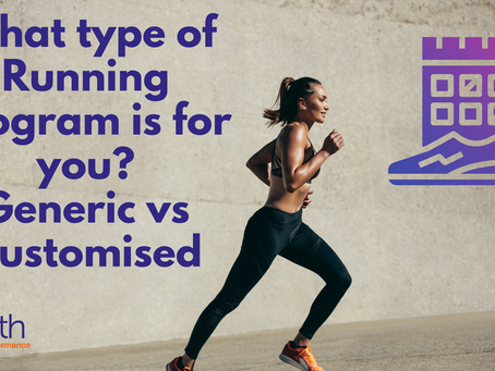 What type of Running Program is for you? Generic vs Customised