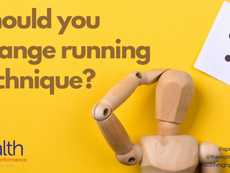 Should you change your running technique?