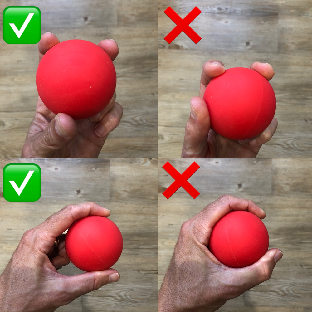Gripping ball