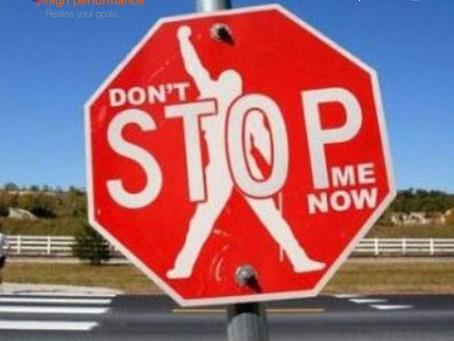 """Just stop running"""