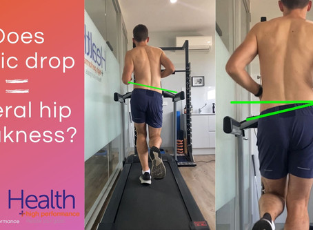 Does pelvic drop mean there is lateral hip weakness?