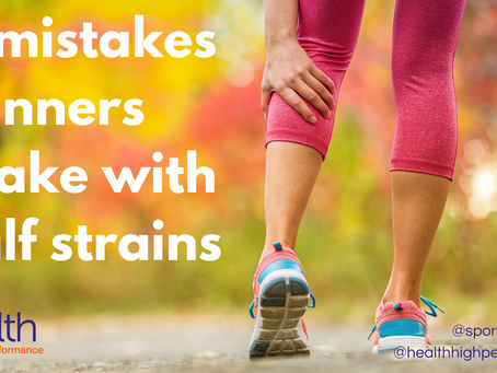 4 mistakes runners make with calf strains