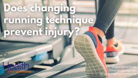 Does changing running technique prevent injury?