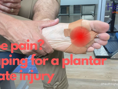 Toe pain? Taping for a plantar plate injury