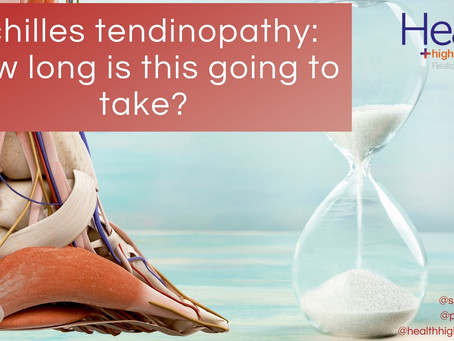 How long does Achilles tendinopathy take to get better?