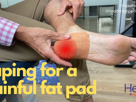Taping for a painful fat pad