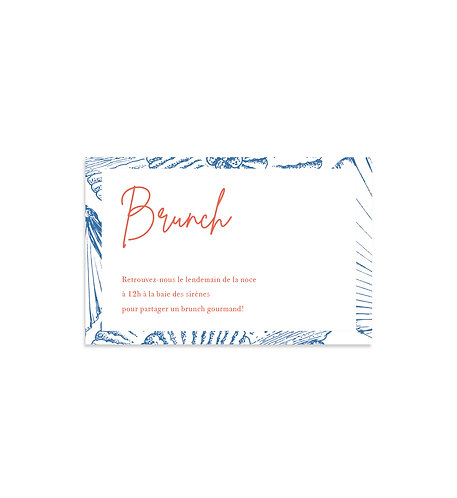 """Carte Brunch """"Coquillage"""""""