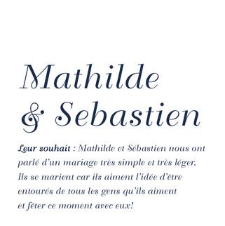 Mathilde & Sébastien