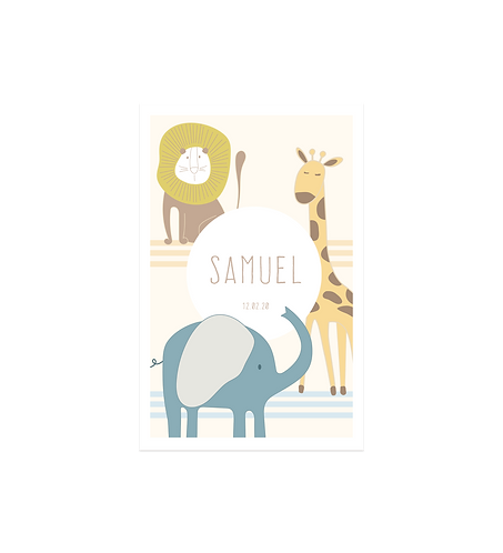 "Faire-part ""Savane"""