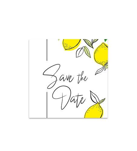 "Save the date ""Lemon"""