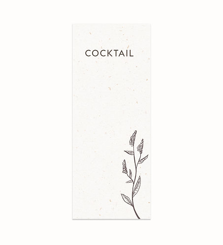 "Carte Cocktail ""Nature"""