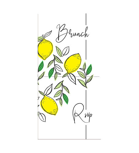 "Carte brunch ""Lemon"""