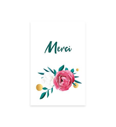 """Carte Merci """"Flower"""""""