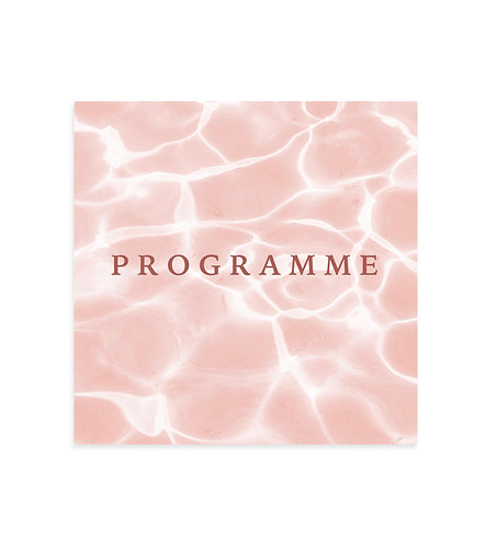 "Programme mariage ""Grenadine"""
