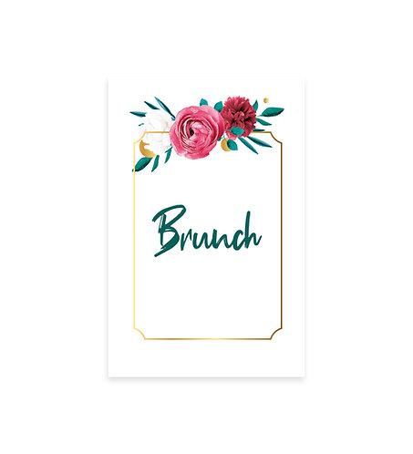 "Carte Brunch ""Flower"""