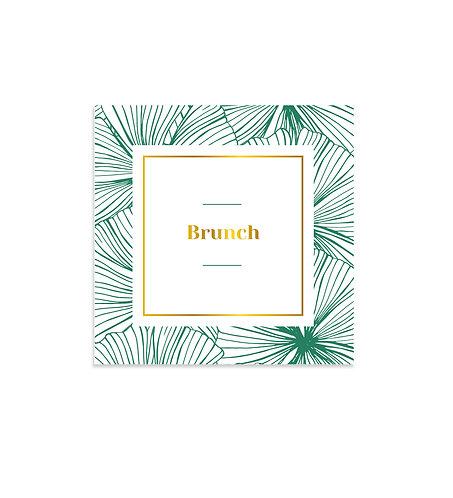 """Carte Brunch """"Belle Époque"""""""