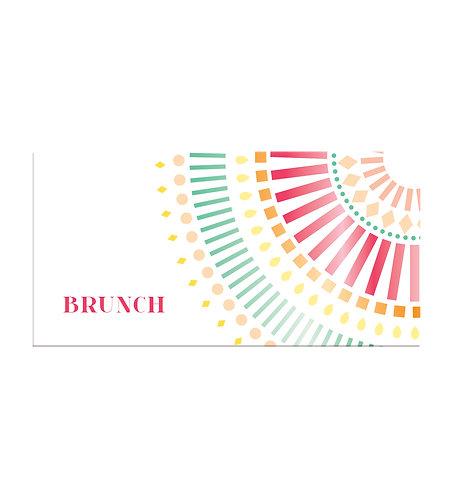 """Carte brunch """"Mandala"""""""