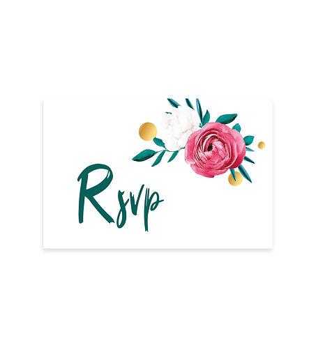 "Carte RSVP ""Flower"""