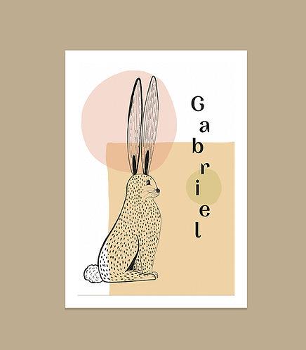 """Affiche naissance """"Bunny"""""""