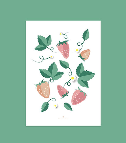 """Affiche """"Strawberries"""""""