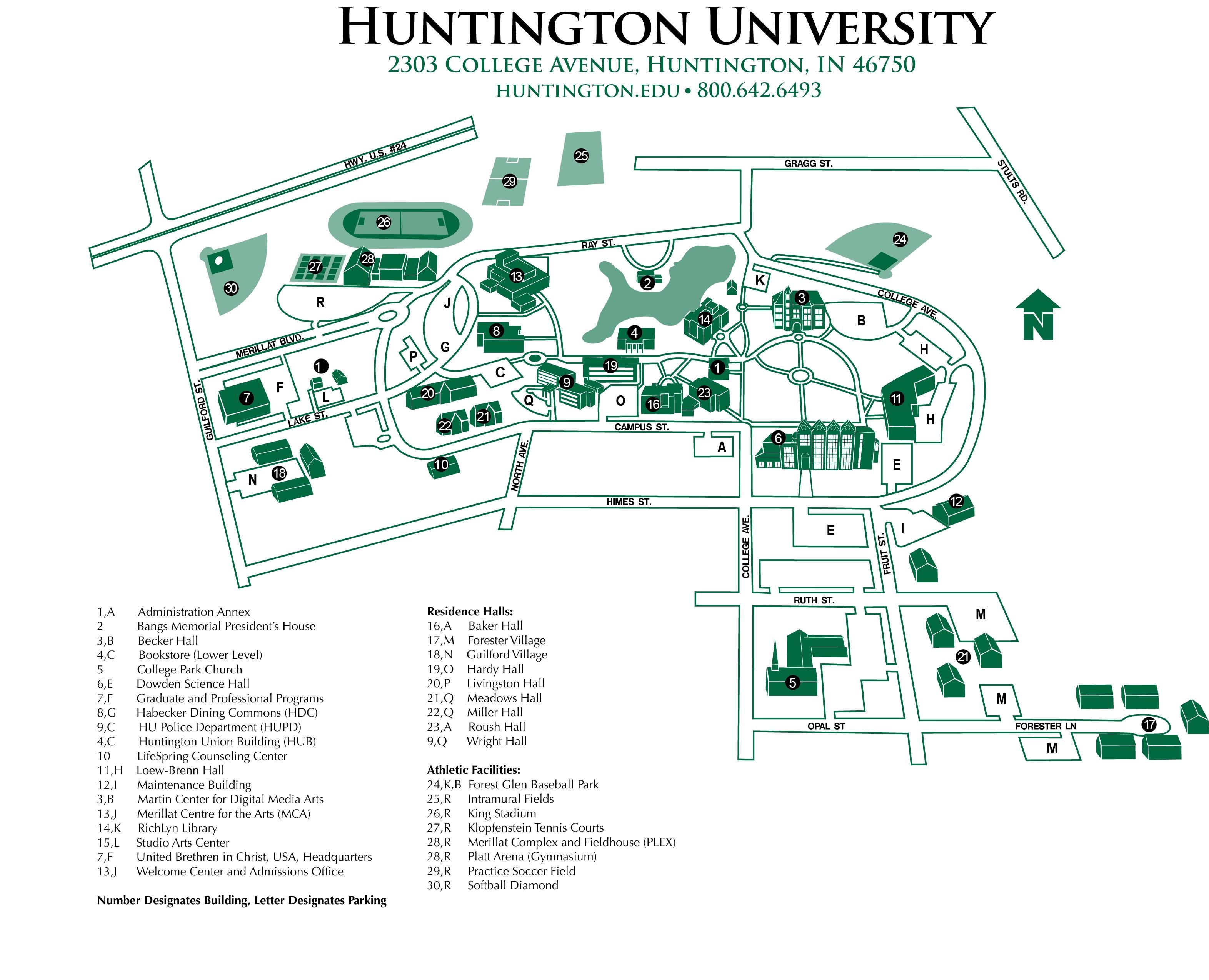 huntington university campus map Portfolio Mysite huntington university campus map
